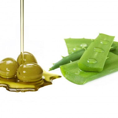 Olive oil and aloe vera, the combination of natural moisturizing